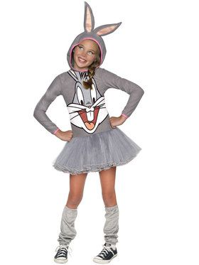 Girls Looney Tunes Bugs Bunny Hooded Cos