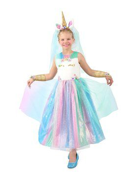 Girls Lovely Lady Unicorn Dress