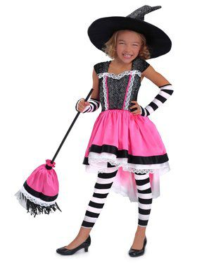 Girls Luna the Witch Child Costume