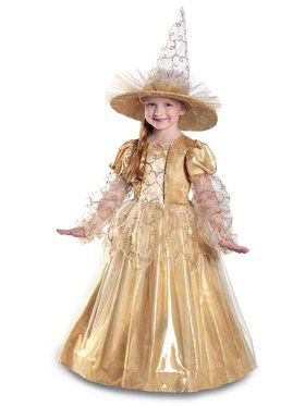 Girls Mila the Gold Witch Costume