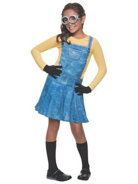 Girls Minion Costume