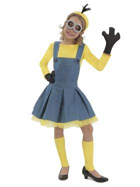 Girls Minions Jumper Costume