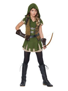 Girls Miss Robin Hood Costume