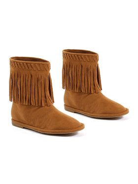 Girls Moccasin Boot With Fringe