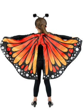 Girls Monarch Butterfly Cape Child Costume