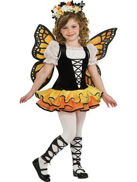 Girls Monarch Butterfly Costume