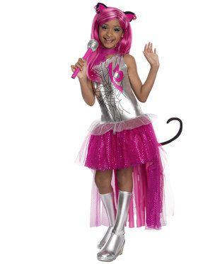 Girls Monster High Catty Noir Costume