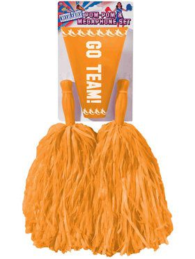 Orange Pom-Pom Megaphone Set