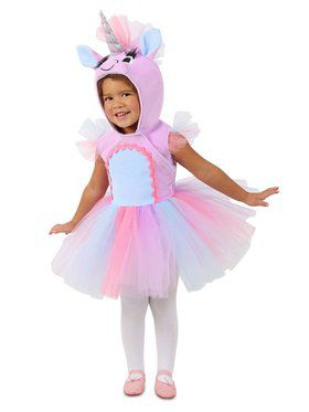 Girls Pastel Unicorn Dress