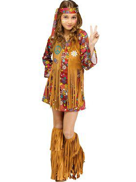 Girls Peace And Love Hippie Costume