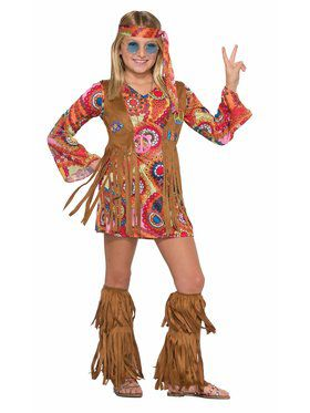 Peace Lovin' Hippie Costume for Girls