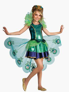 Girls Peacock Costume