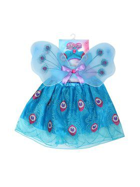 Girls Peacock Skirt Set Costume