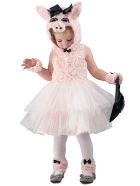 Girls Piggy Went to Market Child Costume
