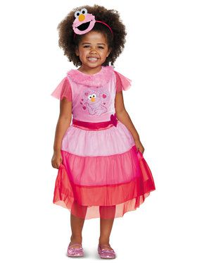 Girls Pink Elmo Dress Classic Costume