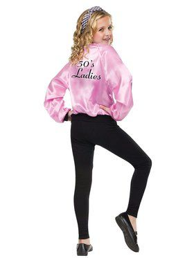 Girls Pink Ladies Satin Jacket