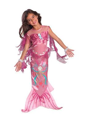 Mermaid Kids CostumePink