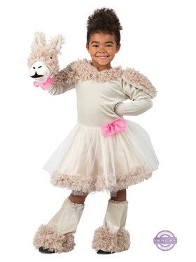 Girls Playful Puppet Llama Costume