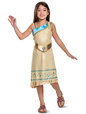 Deluxe Pocahontas Girls Costume