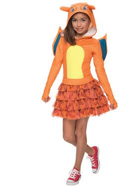 Pokemon Charizard Hoodie Child Costume - S