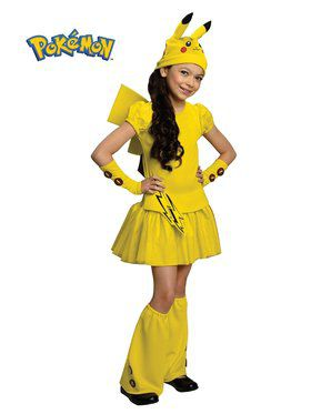 Girls Pokemon Pikachu Costume