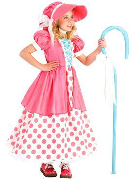 Girls Polka Dot Bo Peep Child Costume