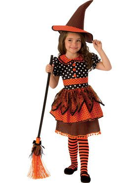 Girl's Witchy Polka Dot Costume