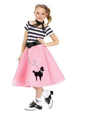 Girls Poodle Dress With Scarf And Belt