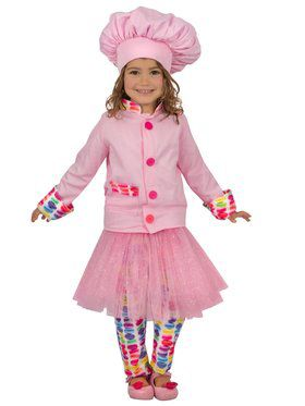 Girls Princess Chef Child Costume