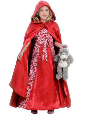 Girls Princess Red Riding Hood Child Costume