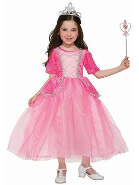 Silver Rose Princess Girls Costume
