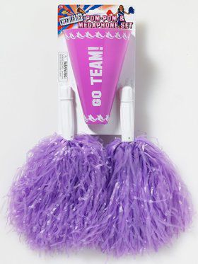 Purple Pom-Pom Megaphone Set