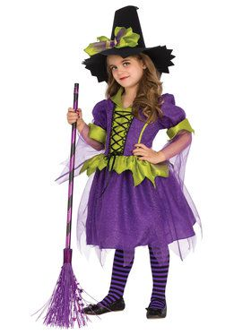 Purple Moon Witch Costume for Girls