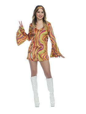 Girls Rainbow Lights Disco Diva Costume