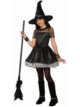 Girls Rebel Rock Witch Costume