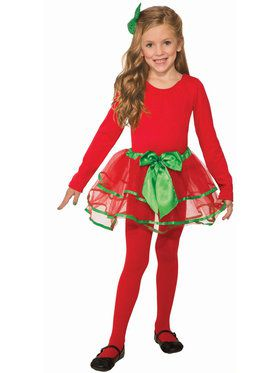 Girls Red and Green Christmas Tutu
