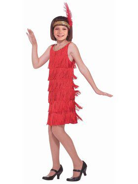 Red Flapper Girls Costume