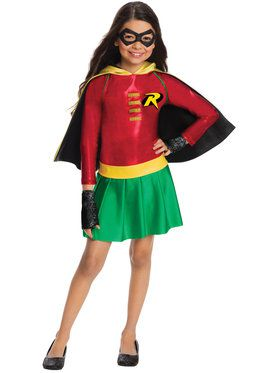 Girls Robin Dress Costume