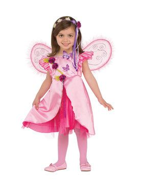 Kids Rose Fairy Costume