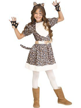 Rose Gold Leopard Girls Costume
