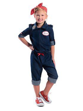 Girls Rosie the Riveter Child Costume