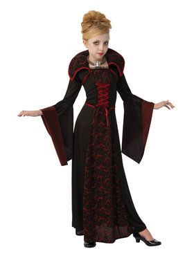 Royal Vampiress Costume For Girls