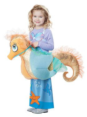 Girls Seaquestrian Mermaid Costume