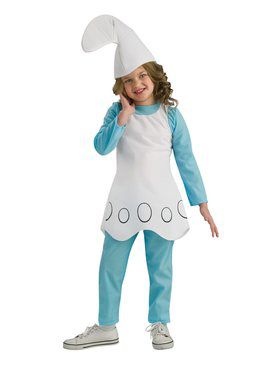 Girls Smurfette Costume