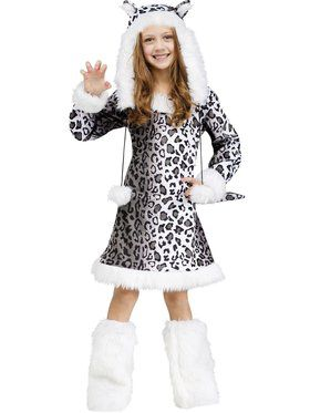 Snow Leopard Girls Costume