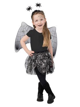 Girls Spiderweb Skirt Set Costume