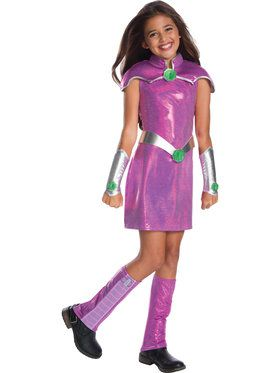 Girls Starfire Deluxe Costume