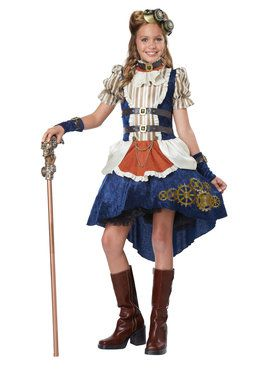 Fashionable Steampunk Girls Costume
