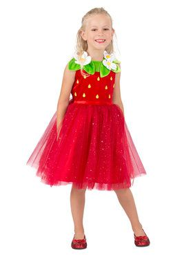 Strawberry Sweetie Girls Costume