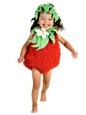 Girls Suzie Strawberry Child Costume